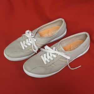 Keds Sneakers Taupe And Orange Stripe